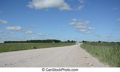 landscape rural road car
