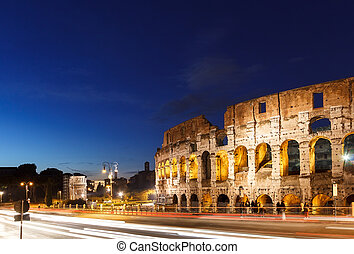 Colosseum at sunset. Rome, Italy