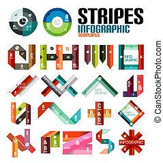 Ribbon infographic design template set