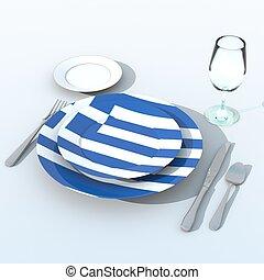 3D,  bandiera,  grecia