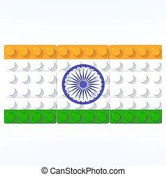bandiera,  India,  3D