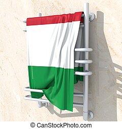 Bandiera, 3D, Italia