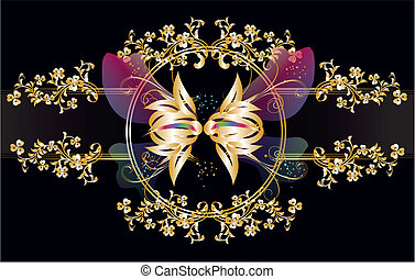gold butterfly,