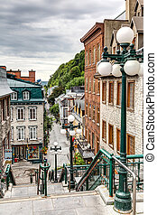 The historic district of Old Quebec is a UNESCO World...