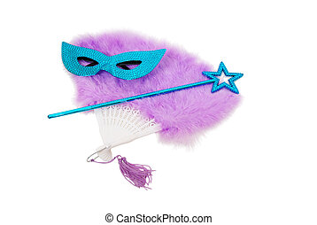Drama theater - Sparkly gemmed mask and star wand with...