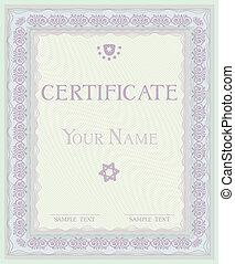 Certificate Vector pattern diplomas