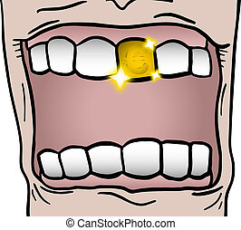 Gold tooth - Creative design of gold tooth