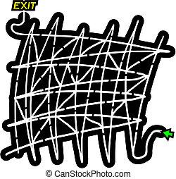 Easy maze - Creative design of easy maze