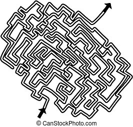 Simple maze - Creative design of simple maze