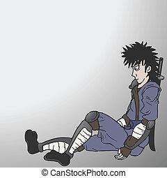 Ninja sitting
