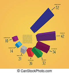 colorfull 3d infographics vector