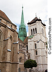 Cathedral Saint Pierre in Geneva, Switzerland