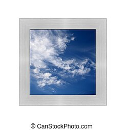 Contrasty Sky - A contrasty blue cloudy sky photographed...