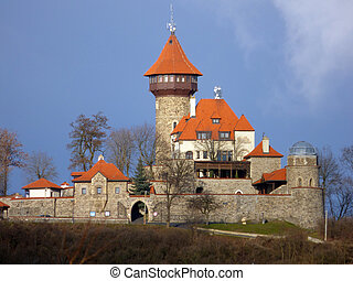 Castle Hnevin in city Most, Czech Republic