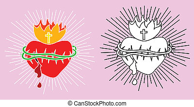 Holy heart vector picture