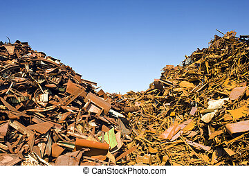 Scrap Heap Waste Separation - two heaps of different kinds...