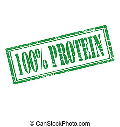 100% Protein-stamp