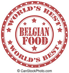 Belgian Food-stamp - Grunge rubber stamp with text Belgian...