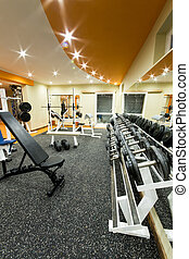 Gym and fitness room.