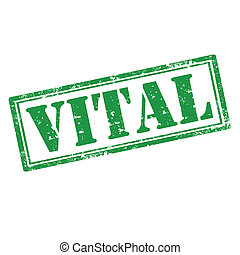 Vital-stamp - Grunge rubber stamp with word Vital,vector...