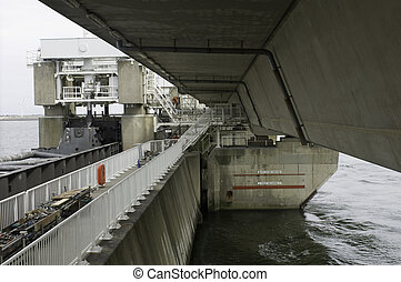 Storm flood barrier repair - The world famous Oosterschelde...