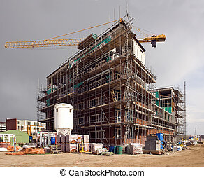 Housing development - A huge housing development, erecting a...