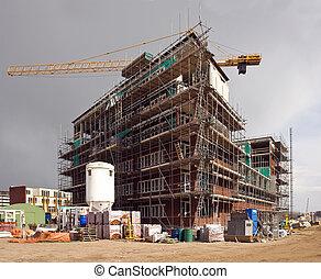 Housing development - A huge housing development, erecting a...