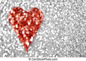 Heart Background - Glitter heart background