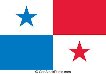 Panama flag - Vector Republic of Panama flag