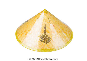 Asian conical hat - Asian traditional conical hat isolated...