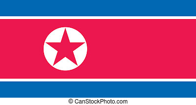 North Korea flag - Vector North Korea flag