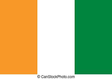 Cote d'Ivoire flag - Vector Cote d'Ivoire flag