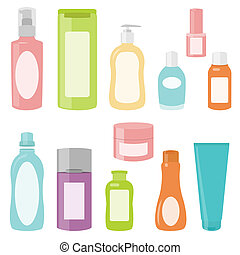 Set 2 of cosmetics containers - Set 2 of bright cosmetics...