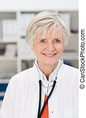 Smiling female doctor or GP