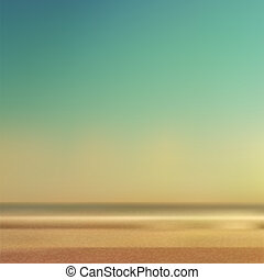 Summertime Beach and Sea. Conceptual Background.