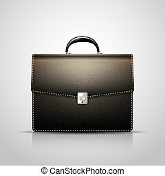 Brief case - Vector Black Brief case with leather texture