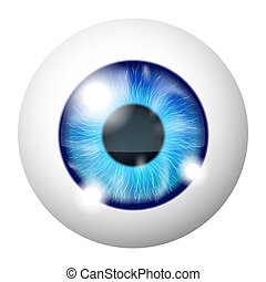Human eye - Vector Blue human eye macro over white