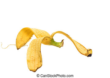 Banana Peel isolated on White background