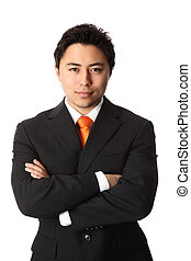 Tough businessman - Young attractive businessman wearing a...