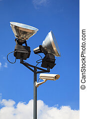 Security camera nad lamps - Equipment for safety oversight -...