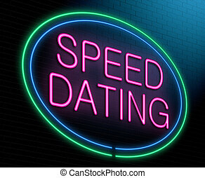 Speed dating concept - Illustration depicting an illuminated...