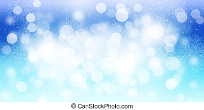 Blurred bokeh christmas background with snowflakes
