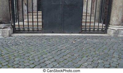 San Clemente entrance - San Clemente in Rome famous...