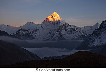 Valley darkened and fell asleep but the pyramid continued to...