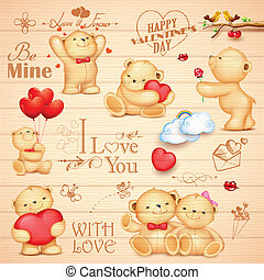 Teddy Bear for love background - illustration of teddy bear...