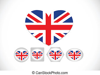 National flag of UK , the United Kingdom of Great Britain...