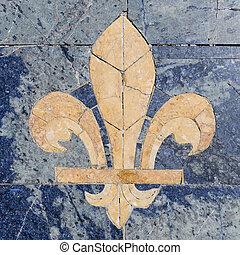 Fleur-de-lis - Stone fleur-de-lis also called fleur-de-lys