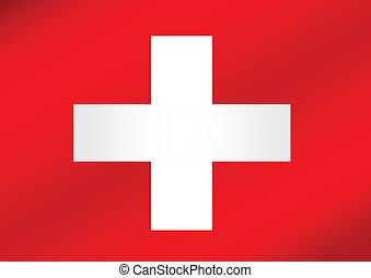 National flag of Switzerland themes idea design