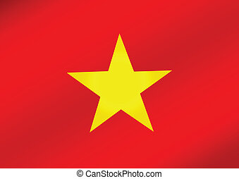 Flag of Vietnam themes idea design