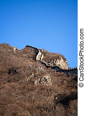 Great Wall of China - Original section of the great wall of...